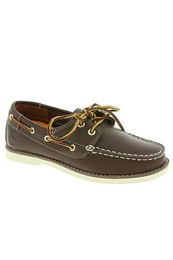 timberland chaussures garçon de couleur marron
