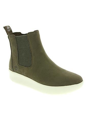 timberland chaussures femme de couleur vert