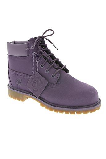 timberland chaussures enfant de couleur violet