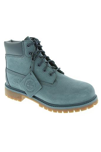 timberland chaussures enfant de couleur bleu