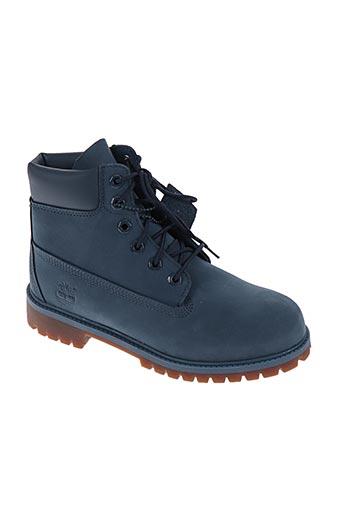 timberland chaussures garçon de couleur bleu