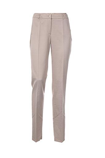 pauporté pantalons femme de couleur beige