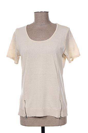 T-shirt manches courtes beige PAUPORTÉ pour femme