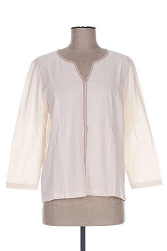 pauporté t-shirts femme de couleur beige