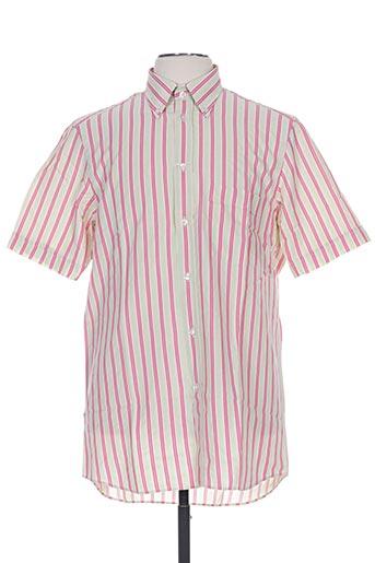 alain gauthier chemises homme de couleur rose