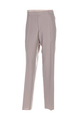gianni marco pantalons homme de couleur beige