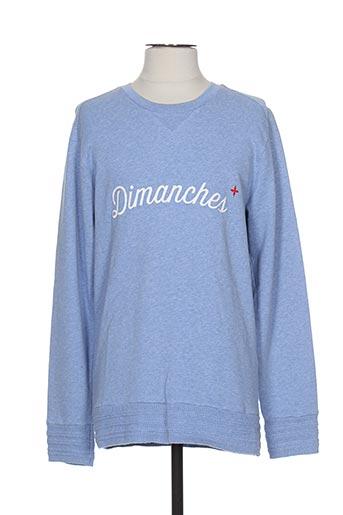 Sweat-shirt bleu COMMUNE DE PARIS 1871 pour homme