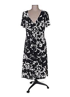 Robe mi-longue noir BISBIGLI pour femme