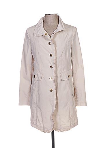 damo manteaux femme de couleur beige