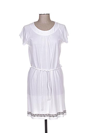 Robe courte blanc ROSE POMME pour femme