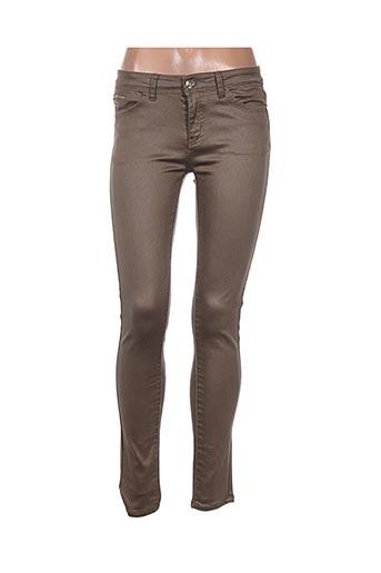 vavell jean pantalons femme de couleur marron