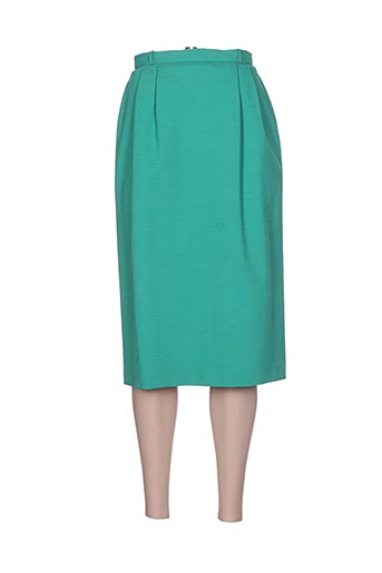 Jupe mi-longue vert GERARD PASQUIER pour femme