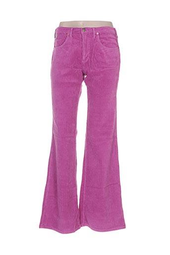 lois pantalons femme de couleur rose