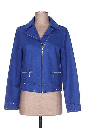 madison vestes femme de couleur bleu