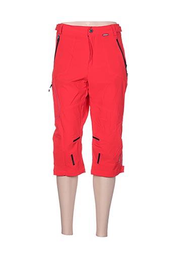 icepeak pantacourts femme de couleur rouge