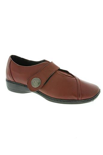 fargeot chaussures femme de couleur rouge