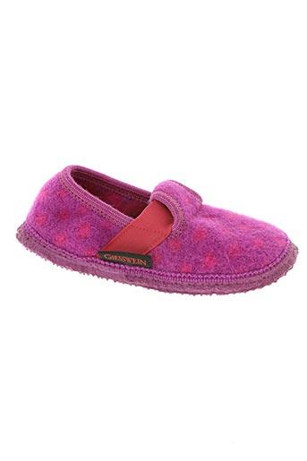 giesswein chaussures fille de couleur violet