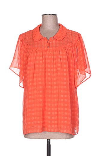 i.code (by ikks) chemises femme de couleur orange