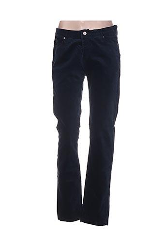 Pantalon casual bleu CASSIS pour femme