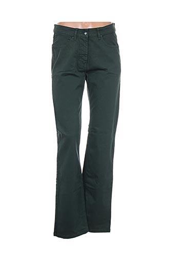 d'auvry pantalons femme de couleur vert