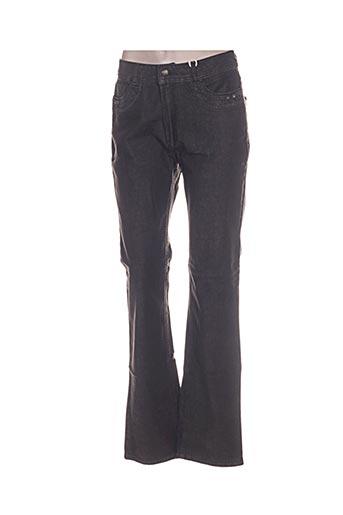 Jeans coupe droite marron ARMAND THIERRY pour femme