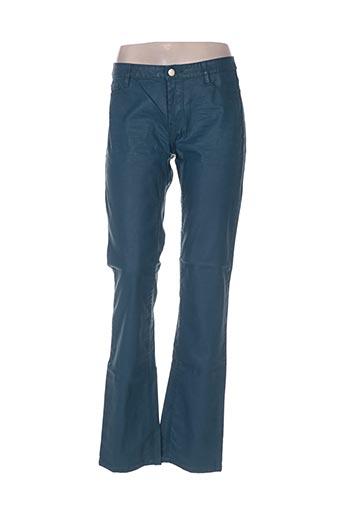 cks pantalons femme de couleur vert
