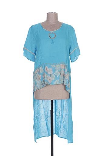 Tunique manches courtes bleu BATISTAME pour femme