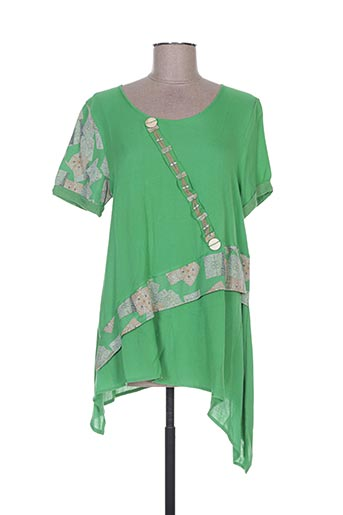Tunique manches courtes vert BATISTAME pour femme