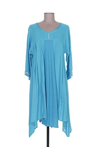 Tunique manches longues bleu BATISTAME pour femme