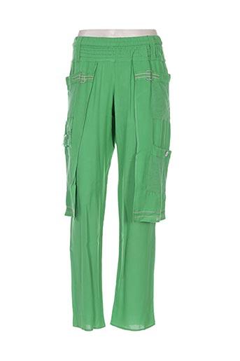 batistame pantalons femme de couleur vert