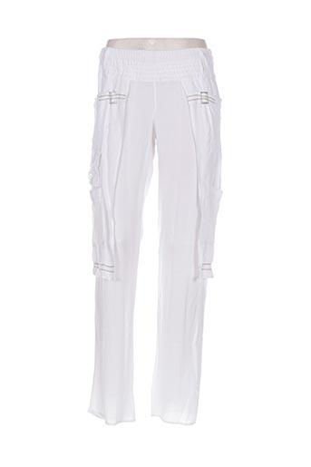 Pantalon casual blanc BATISTAME pour femme