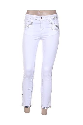 voodoo jeans femme de couleur blanc