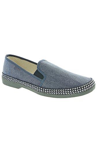 la maison de l'espadrille chaussures homme de couleur bleu