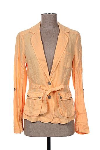 Veste casual orange SANDWICH pour femme