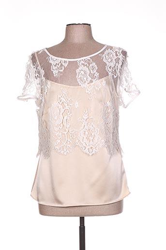 linea raffaelli chemises femme de couleur beige