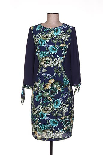 faruk robes femme de couleur bleu