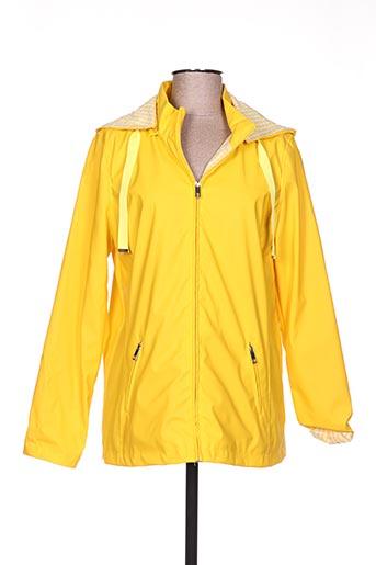 escandelle manteaux femme de couleur jaune