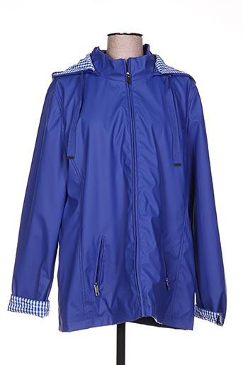 escandelle manteaux femme de couleur bleu