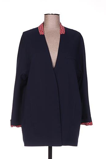 Veste chic / Blazer bleu HIPPOCAMPE pour femme