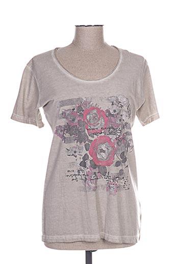 m.x.o t-shirts femme de couleur gris