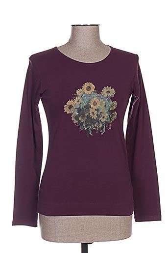 T-shirt manches longues violet FERRACHE pour femme