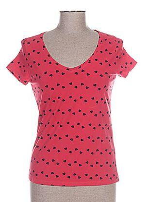 T-shirt manches courtes rouge CAMISETAS pour femme