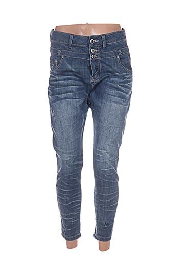 Jeans boyfriend bleu BISOU D'EVE pour femme