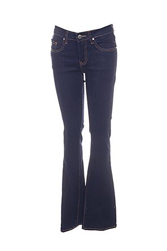 Jeans coupe slim bleu BISOU D'EVE pour femme