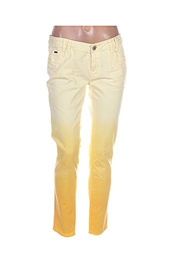 Jeans coupe slim jaune BISOU D'EVE pour femme