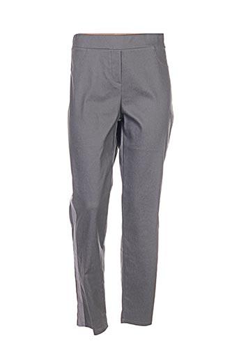 halogene pantalons femme de couleur gris