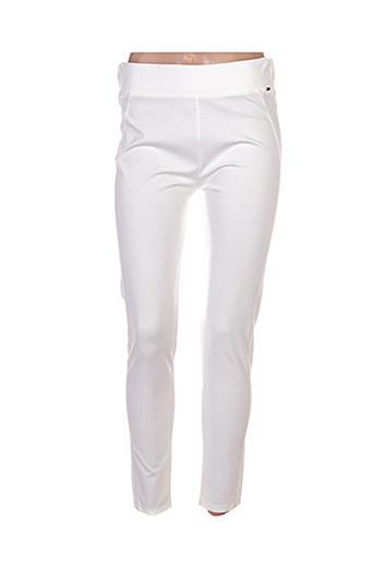 ferrache pantalons femme de couleur beige
