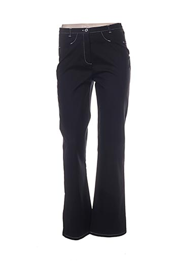 pause cafe pantalons femme de couleur noir