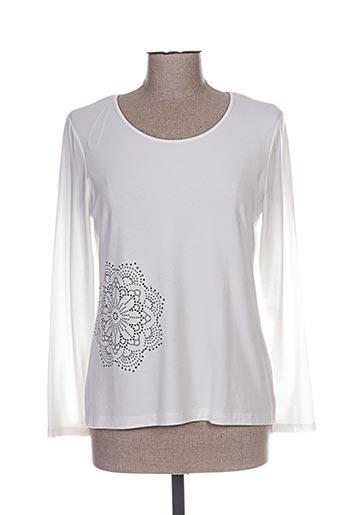 pause cafe t-shirts femme de couleur blanc