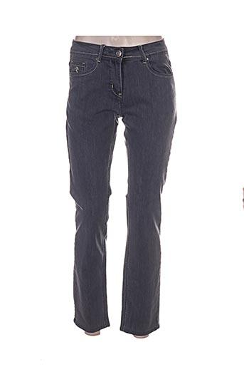 Jeans coupe droite gris GRIFFON pour femme